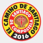 EL Camino de Santiago 2016 Pegatina Redonda