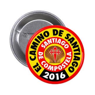 El Camino de Santiago 2016 Pinback Button