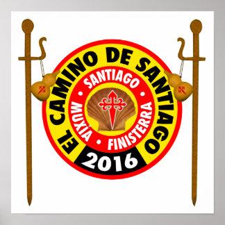 EL Camino de Santiago 2016 Póster