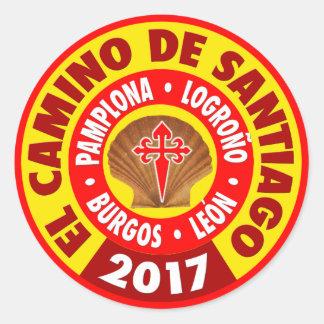 EL Camino de Santiago 2017 Pegatina Redonda