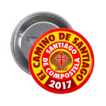 EL Camino de Santiago 2017 Pin Redondo De 2 Pulgadas