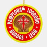 EL Camino de Santiago Adorno Navideño Redondo De Cerámica