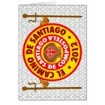EL Camino de Santiago de Compostela 2012 Tarjeta De Felicitación
