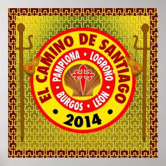 El Camino de Santiago de Compostela 2014 Poster