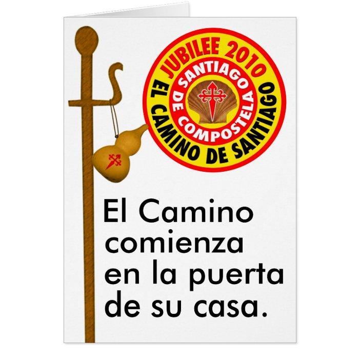 El Camino de Santiago de Compostela Card