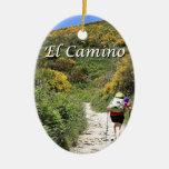 EL Camino de Santiago de Compostela, España, Adorno Navideño Ovalado De Cerámica