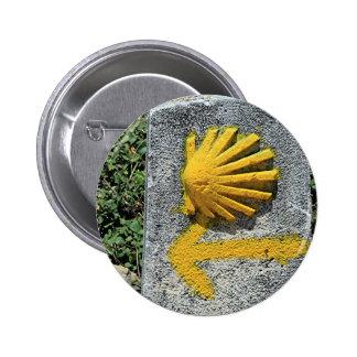 El Camino de Santiago de Compostela, Spain, shell 2 Inch Round Button