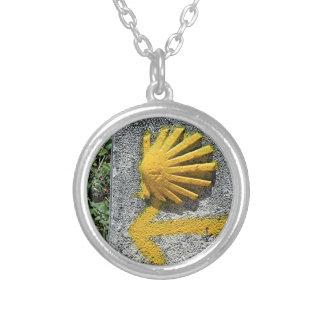 El Camino de Santiago de Compostela, Spain, shell Silver Plated Necklace