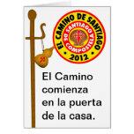 EL Camino de Santiago de Compostela Tarjeta