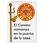 EL Camino de Santiago de Compostela Tarjeton