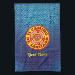 "El Camino De Santiago Hand Towel<br><div class=""desc"">Pamplona Burgos Le&#243;n Logro&#241;o</div>"