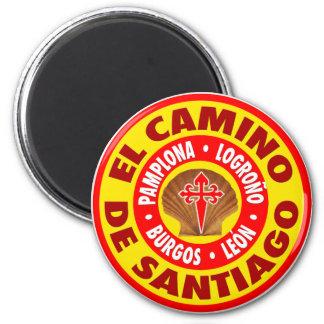 EL Camino de Santiago Imán Redondo 5 Cm