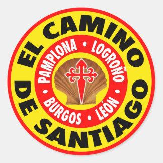EL Camino De Santiago Pegatina