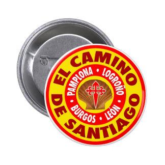 EL Camino de Santiago Pin Redondo 5 Cm