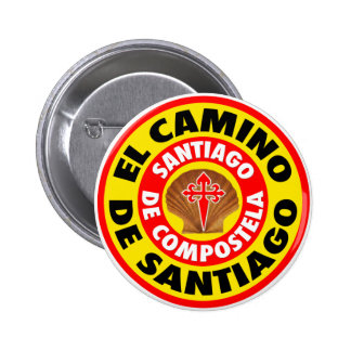 El Camino de Santiago Pinback Button