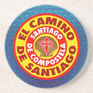 El Camino de Santiago Sandstone Coaster