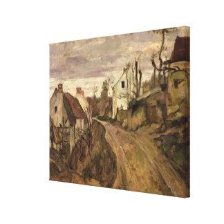 El camino del pueblo, Auvers, c.1872-73 Impresión En Tela