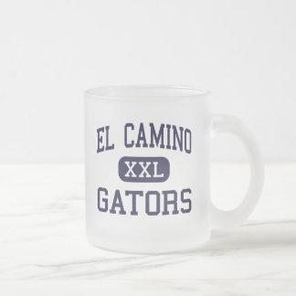 El Camino - Gators - High - Whittier California 10 Oz Frosted Glass Coffee Mug