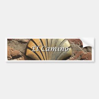 El Camino gold shell, Leon (caption) Bumper Sticker
