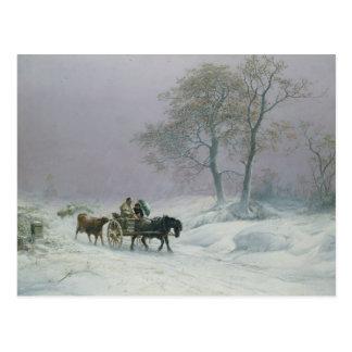El camino hivernal a comercializar tarjeta postal