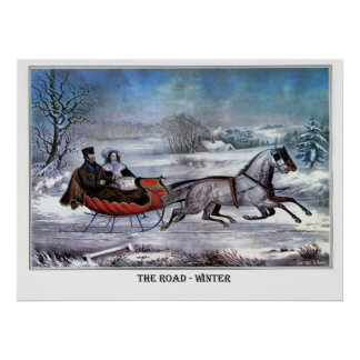 El camino - invierno póster