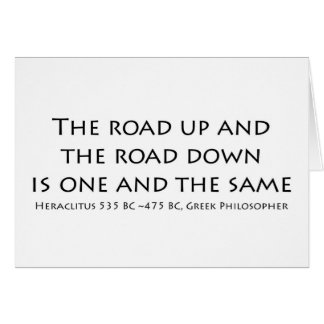 El camino para arriba tarjeta de felicitación
