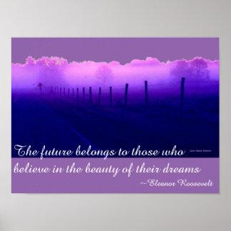 El camino púrpura soña el poster al lado del