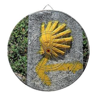 El Camino shell and arrow sign, Spain Dart Board