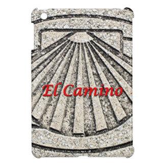 El Camino shell, pavement, Spain (caption) Case For The iPad Mini