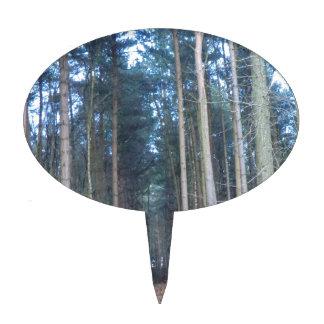 El camino viajó menos a través del bosque de Delam Decoración Para Tarta
