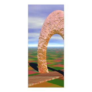 """El camino viajó menos, arco abstracto, tierras de invitación 4"""" x 9.25"""""""