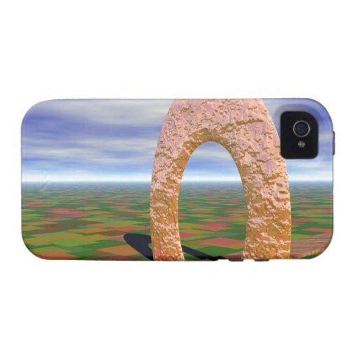 El camino viajó menos, arco abstracto, tierras de iPhone 4/4S carcasas