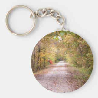 El camino viajó menos llavero redondo tipo pin