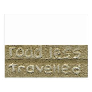 El camino viajó menos 'puerta posterior Talk Tarjeta Postal