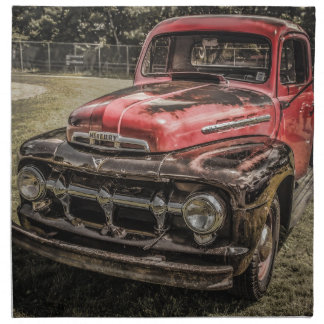 El camión antiguo rojo viejo servilleta
