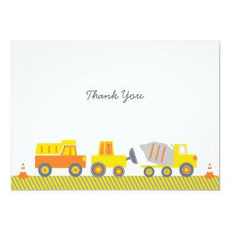 """El camión de la construcción le agradece las invitación 5"""" x 7"""""""