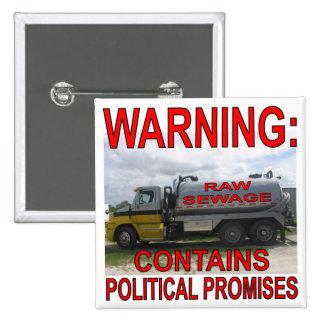 El camión de las aguas residuales contiene promesa pin