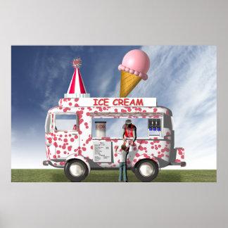 El camión del helado póster