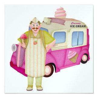 """El camión del helado - SRF Invitación 5.25"""" X 5.25"""""""