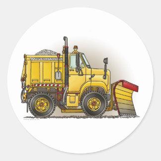 El camión del quitanieves embroma al pegatina
