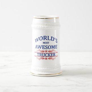 El camionero más impresionante del mundo jarra de cerveza