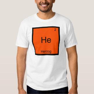 Él - camiseta divertida del símbolo del elemento playeras