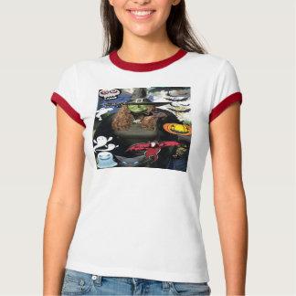 El camisetas de las mujeres de la bruja de remera