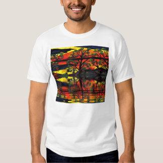 El camisetas de los hombres rizados de los pájaros remera