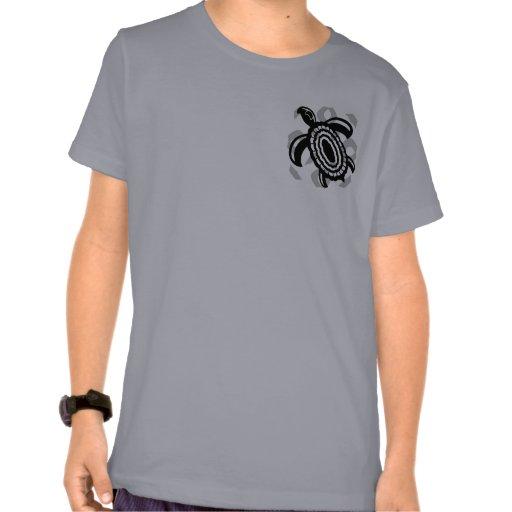 El camisetas de los niños cortados de la tortuga