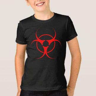 El camisetas del bio del peligro de las camisetas poleras