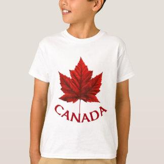El camisetas del niño del recuerdo de Canadá de la Playera