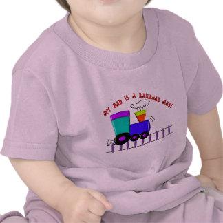 """El camisetas del tren de los niños """"mi papá es un"""