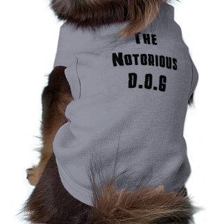 El camisetas notorio de D.O.G Camisetas De Mascota