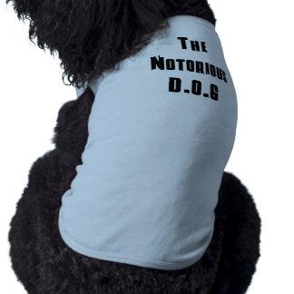 El camisetas notorio de D.O.G Ropa De Perro